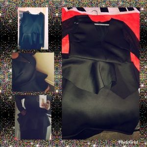 NWOT!!! Plus Size Peplum Dress with Sheer Sleeves.